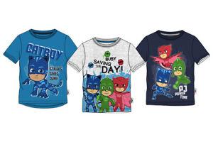 PJ-Masks-T-Shirt-Jungen-Oberteil-Kurzarm-Catboy-Gr-98-104-110-116-128-Neu-amp-Ovp