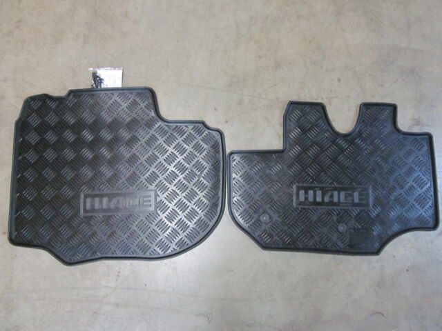 HIACE FRONT RUBBER FLOOR MATS LWB  ** TOYOTA GENUINE PARTS **