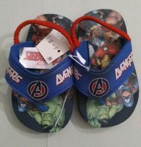 Blue Toddler Boys/' Avengers Flip Flop Sandals