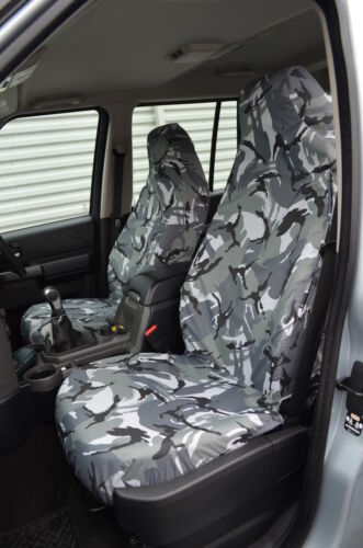 Land Rover Discovery 3/&4 Grey Camo Tailored Waterproof Front Rear Seat Covers NA