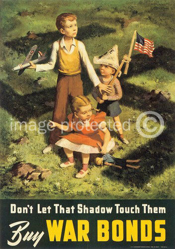 Dont Let That Shadow Touch Them US WW2 Vintage 11x17 Poster