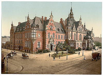 Art Library Exchange Leipsig Saxony A4 Photo Print
