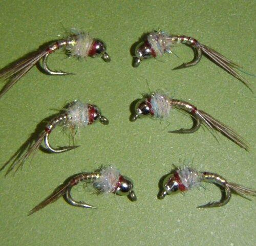 Tungsten  Rainbow Warrior Midge Fly size 20