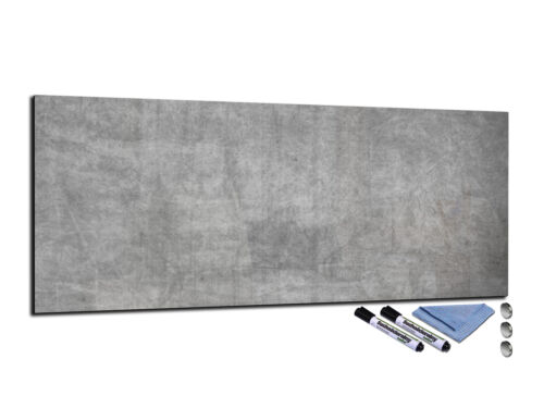 Glass Memo Board Magnetic Heat Resistant Toughened Glass 112x45cm