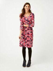 Womens-Ladies-Ex-White-Stuff-Pink-Mix-Tess-Printed-Tea-Dress-Size-6-18