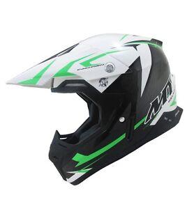 Mt Synchrony Steel Motocross Helmet Green Mx Bike Crash Lid Off Road Atv Quad Ebay