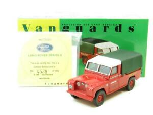 Corgi-Vanguards-VA07600-Land-Rover-Serie-II-Midland-Rojo-1-43-ESCALA-en-Caja