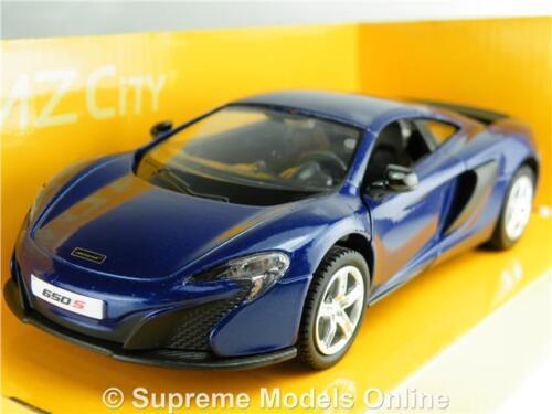 McLaren 650S Coche Modelo Azul 1:38 escala Deportes H 544992B K8Q