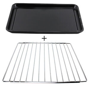 WHIRLPOOL Adjustable Chrome Oven Cooker Grill Shelf /& Large Enamel Baking Tray