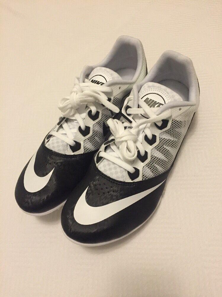 NWOB Nike Zoom Rival S7 Men's Track Spikes Black/white   616313-001 Size 10.5