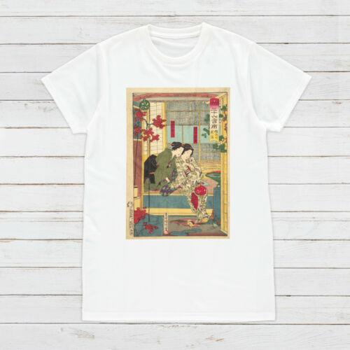 Japanese Ukiyo-e t shirt Woodblock Art Geisha Band Femme Homme Imprimé Tee Top