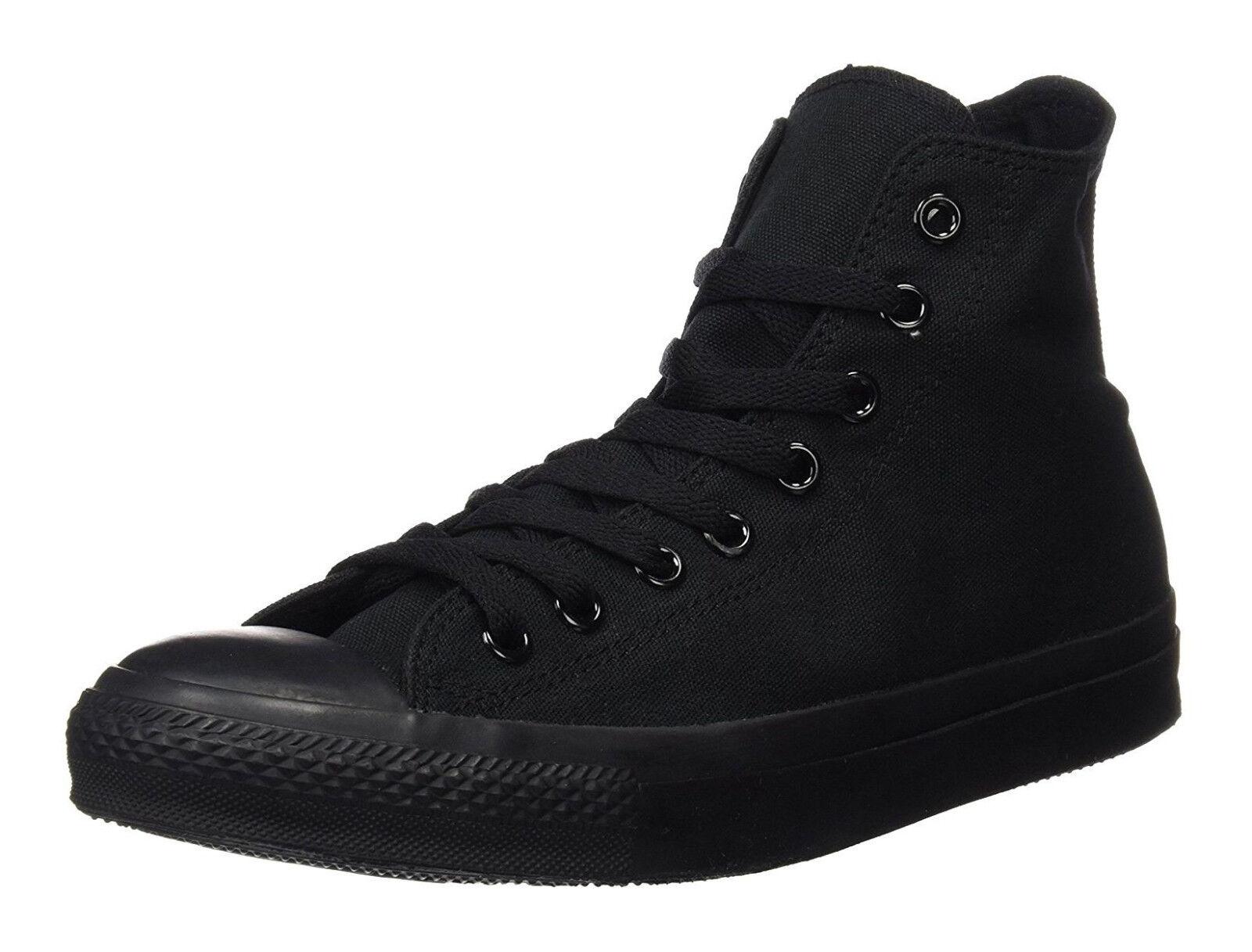 Converse Chuck Taylor Hi Tops Tops Tops Black Mono Womens Sneakers Tennis shoes M3310 4a8687