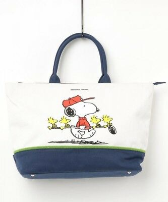 SNOOPY Museum Tokyo limited Tote Bag Peanuts 2018 Cotton White Japan NEW