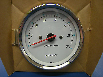 "Suzuki Outboard Parts 4"" Tachometer - White 34200-93J31"