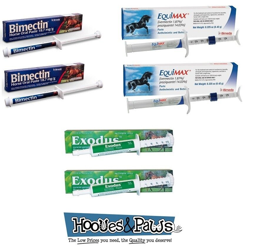 Apple Flavored Horse Wormer Equine Ivermectin Yearly Kit Worming Paste