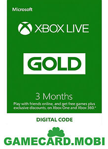 3-Month-Microsoft-XBOX-360-LIVE-GOLD-Membership-Card-Xbox-3-MONTHS-Xbox-One-Code