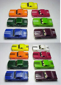 MODEL MOTORING MUSTANG HARDTOP W/ MATCH TOP HO SLOT CAR. YOUR CHOICE
