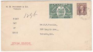 1939 Special Delivery (#E7) cover Toronto to Local Address