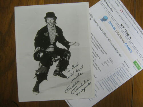 FREDDIE TRENKLER (Died in 2001) Ice Capades Signed 8 X 10 B & W Glossy Photo