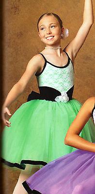NWT BALLET Costume PISTACHIO Green VEVETEEN Hem Lace Bodice Euro length ch//Ladie