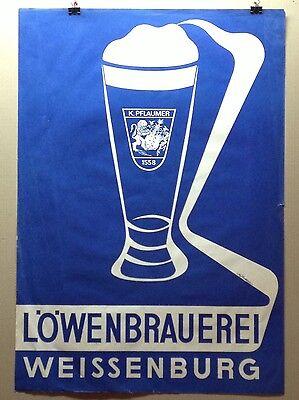 Gut Ausgebildete Plakat Reklame LÖwenbrauerei Weißenburg Rheuma Lindern Bier & Brauerei Plakate