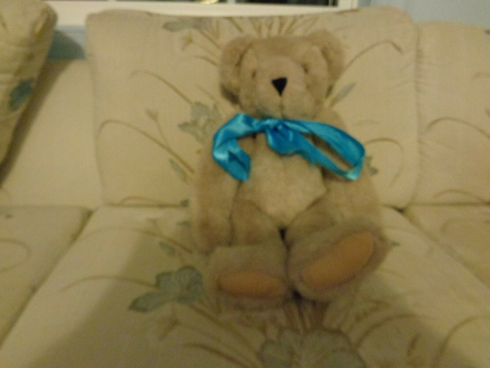VINTAGE 1984 VERMONT TEDDY BEAR PLUSH DOLL FIGURE JOINTED MADE IN THE USA