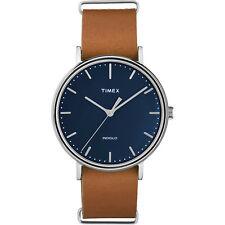 NEW Timex Weekender Fairfield 41mm Slip-thru Watch Black/tan TW2P97800JV