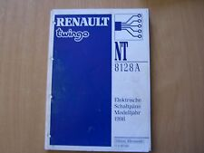 Officina Manuale ELETTR. schemi RENAULT TWINGO nell'anno modello 1998