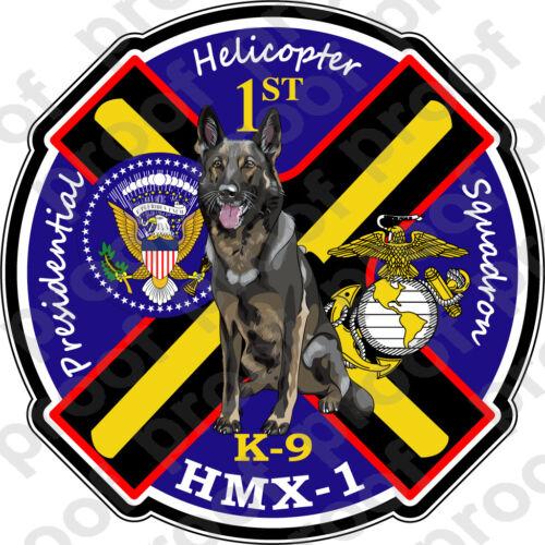 STICKER USMC HMX 1 Presidential K9   ooo   USMC Lisc No 19172
