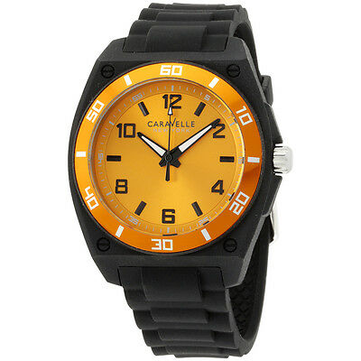 Caravelle New York Analog Display Japanese Quartz Black Men's Watch 45A112