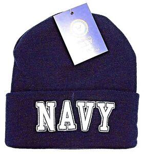 e633d0f4bc6 US NAVY Military Cuff Beanie Skull Cap Hat United States U.S. Winter ...
