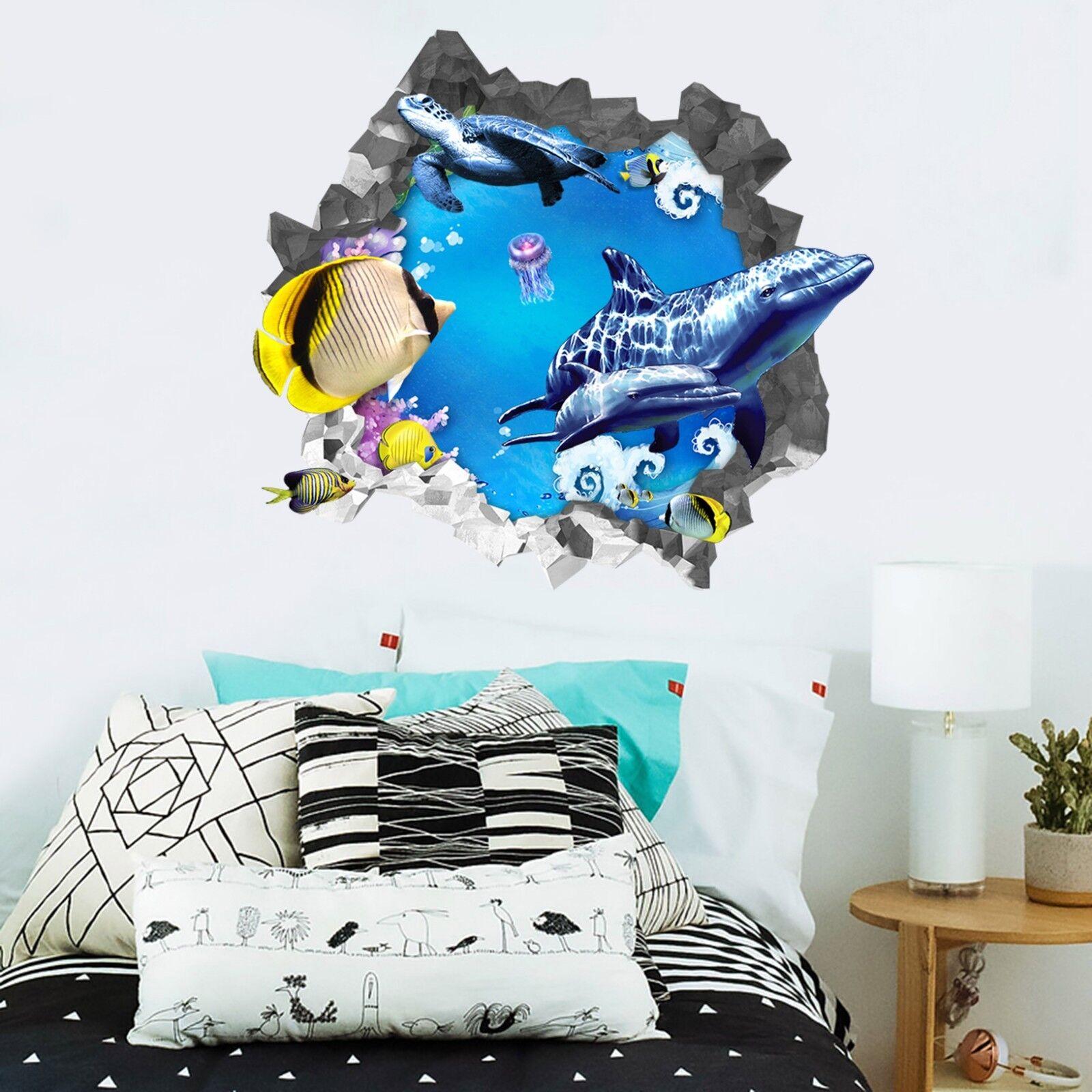 3D Pesci Dell'oceano 313 Parete Murales Parete Adesivi Decal Sfondamento IT