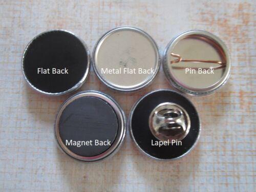 College Santa Clara Broncos 1 inch Buttons Flat//Pin//Magnet//Lapel Set of 5