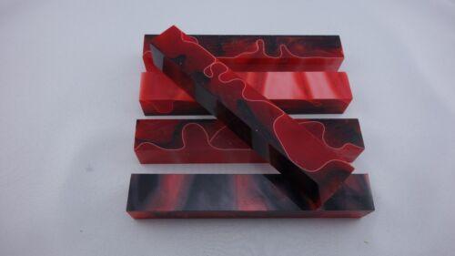 Stiftrohling,acrylic Acryl Pen Blanks himbeer-schwarz Drechselholz Pen Kits