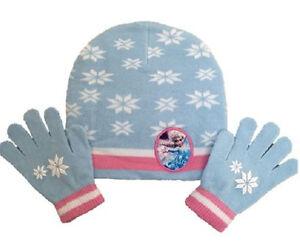 5e4a72dac OFFICIAL DISNEY FROZEN Elsa Girls Pretty Winter Beanie Hat & Gloves ...