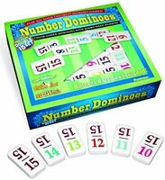 15 Color Number Dominoes, Tile Games Mexican Train Chickenfoot Play Double on sale