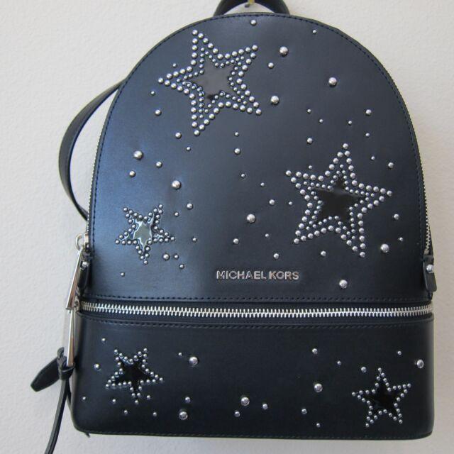 58f595fc52fd Michael Kors Rhea Extra Zip Medium Backpack Black 30h7sezb2i for ...