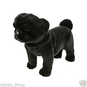 "*NEW* SALE BLACK PUG PUP PUPPY DOG ""MIDNIGHT"" STANDING SOFT TOY 40cm/16inch"