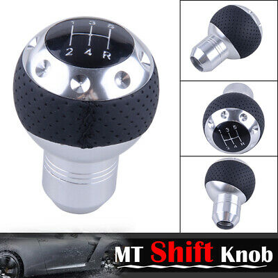 Car Truck Purple Round Carbon Fiber Gear Shift Knob Shifter 15mm Inner Dia