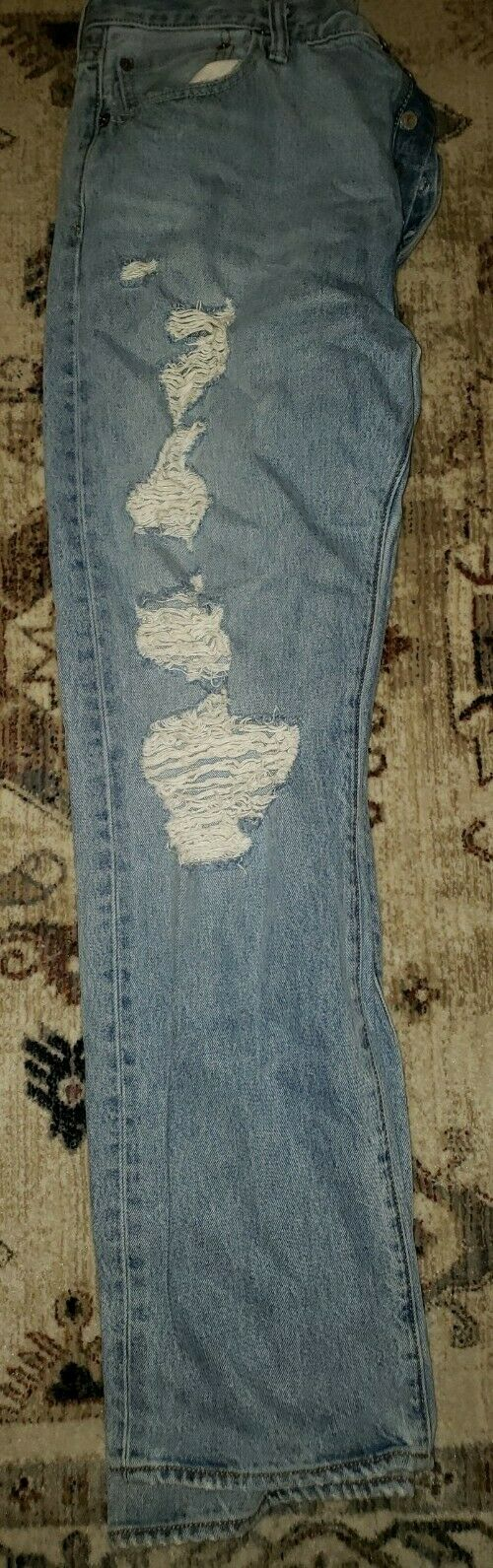 Levis 501's Jeans Distressed 36x32 Button Fly - image 9