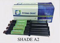 Prime-dent Dual-cure Automix Dental Luting Cement 4 Syringe Kit A2 100-100