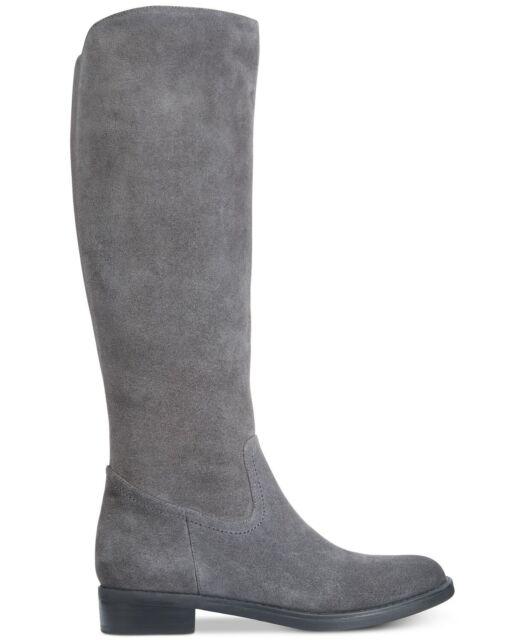 Aqua College Womens Elsa Round Toe Knee High Riding Boots, Grey, Size 9.5