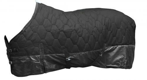 """NEW TACK!! 68/"""" BLACK 420 Denier Quilted Nylon Winter Horse Blanket by Showman!"""