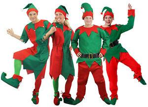 LADIES ELF COSTUME 5 PC ADULT CHRISTMAS FANCY DRESS SANTA/'S HELPER XMAS UK 6//24
