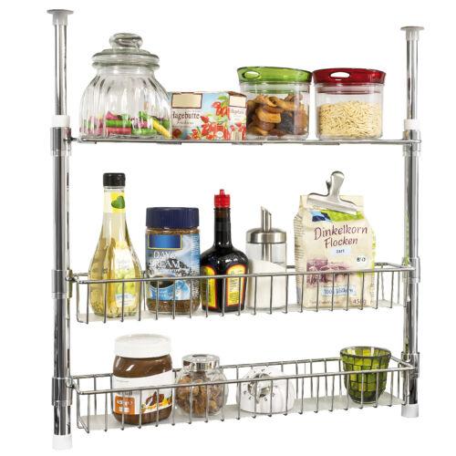 Spice Rack Bremermann Telescopic Kitchen Shelf Shelves with Shelf Baskets