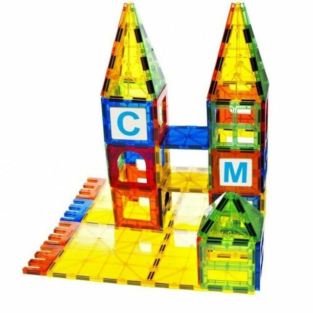 199 Magnet Building Tiles Magna Construction Blocks Puzzle 3D Brain Cars Train