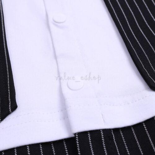 Kids Toddler Baby Boys Wedding Formal Tuxedo Suit Gentleman Outfits Wear Suit