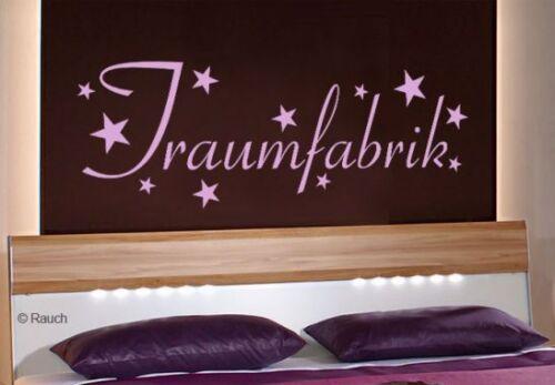 Wandtattoo TRAUMFABRIK Wandspruch Dekoration Schlafzimmer violett renovieren