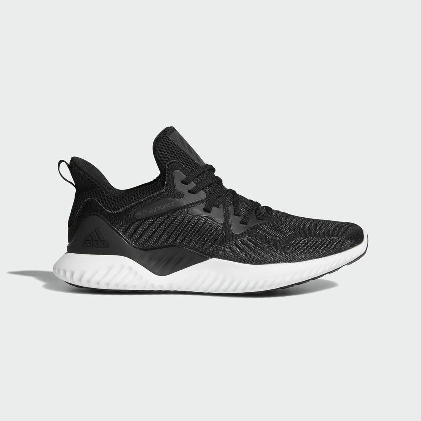 adidas AlphaBounce Beyond Running Shoes Cushioning Walking Sports Black AC8273