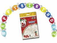 Multi Coloured HAPPY BIRTHDAY Balloon Arch Kit Party Decorations
